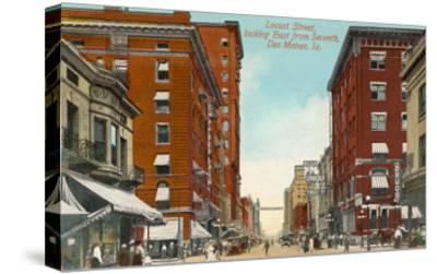 Locust Street, Des Moines, Iowa--Stretched Canvas Print