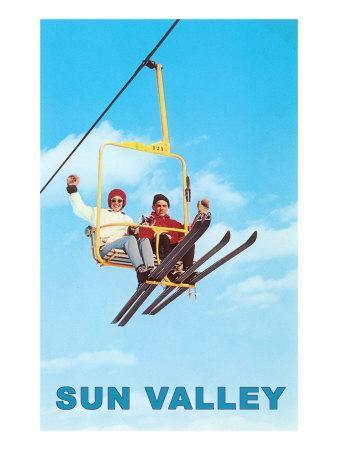 Ski Lift, Sun Valley, Idaho--Framed Art Print