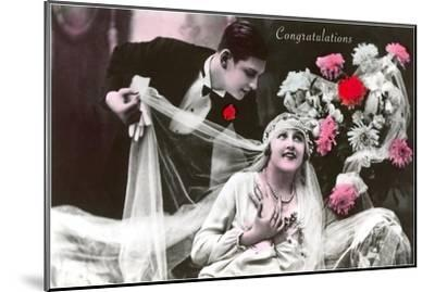 Congratulations, Bride and Groom--Mounted Art Print