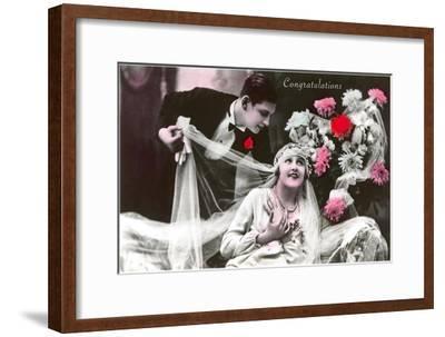 Congratulations, Bride and Groom--Framed Art Print