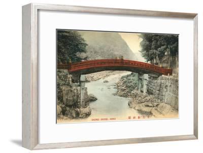 Mihashi Bridge, Nikko, Japan--Framed Art Print