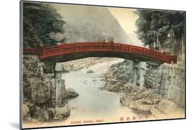 Mihashi Bridge, Nikko, Japan--Mounted Art Print