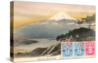 Fuji from Motosu Lake, Japan--Stretched Canvas Print