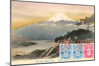 Fuji from Motosu Lake, Japan--Mounted Art Print