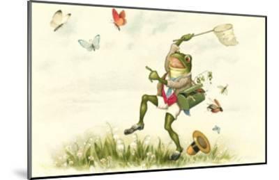 Frog Lepidopterist--Mounted Art Print