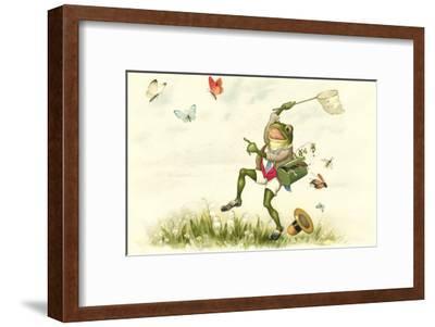 Frog Lepidopterist--Framed Art Print