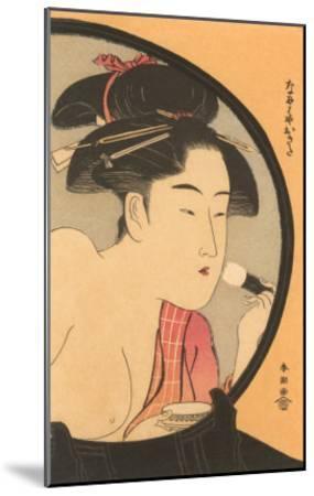 Japanese Woodblock, Woman at Toilette--Mounted Art Print