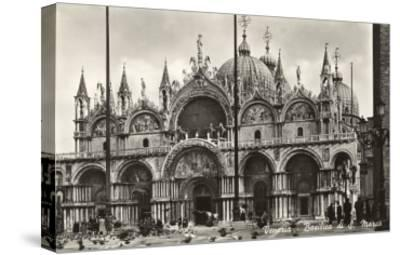 St. Mark's Basilica, Venice, Italy, Photo--Stretched Canvas Print