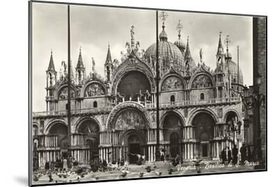 St. Mark's Basilica, Venice, Italy, Photo--Mounted Art Print