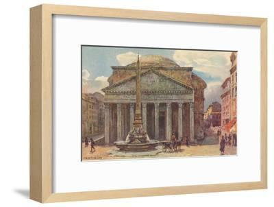 Pantheon in Rome, Painting--Framed Art Print
