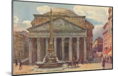 Pantheon in Rome, Painting--Mounted Art Print