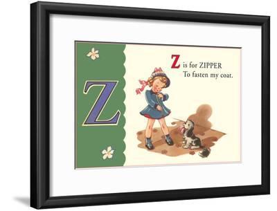 Z is for Zipper--Framed Art Print