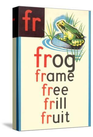 FR for Frog--Stretched Canvas Print
