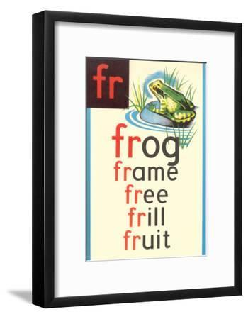 FR for Frog--Framed Art Print