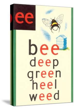 EE in Bee--Stretched Canvas Print