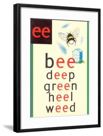 EE in Bee--Framed Art Print