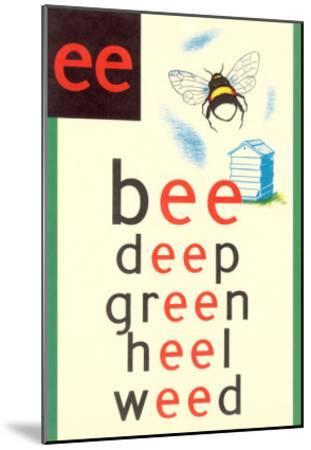 EE in Bee--Mounted Art Print