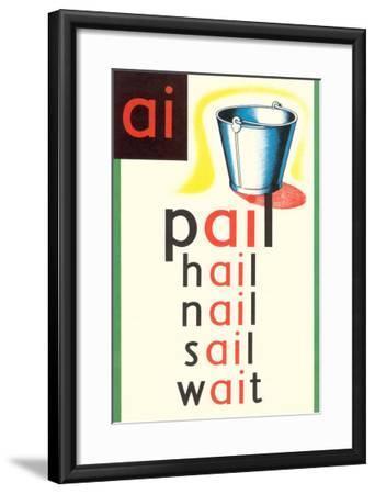AI in Pail--Framed Art Print