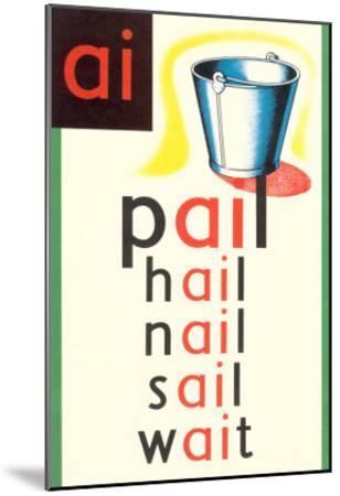 AI in Pail--Mounted Art Print
