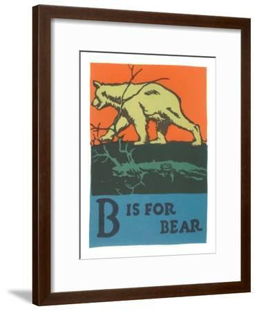 B is for Bear--Framed Art Print