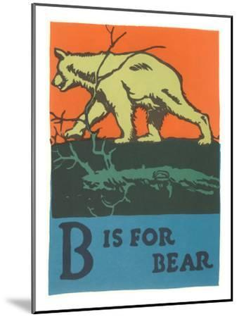 B is for Bear--Mounted Art Print
