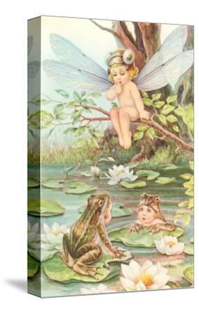Baby with Dragonfly Wings and Frog Children--Stretched Canvas Print