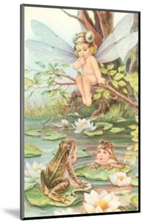 Baby with Dragonfly Wings and Frog Children--Mounted Art Print