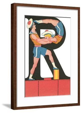 R for Roughhousing--Framed Art Print