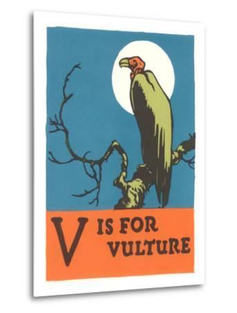V is for Vulture--Metal Print