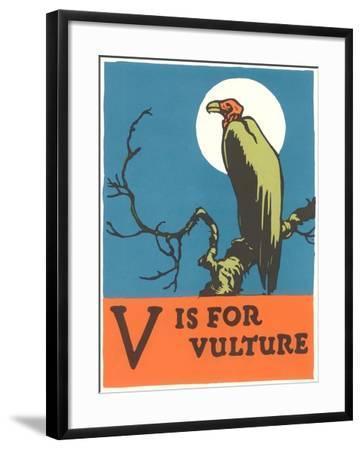 V is for Vulture--Framed Art Print