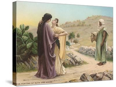 Parting of Ruth and Naomi--Stretched Canvas Print