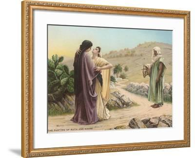 Parting of Ruth and Naomi--Framed Art Print