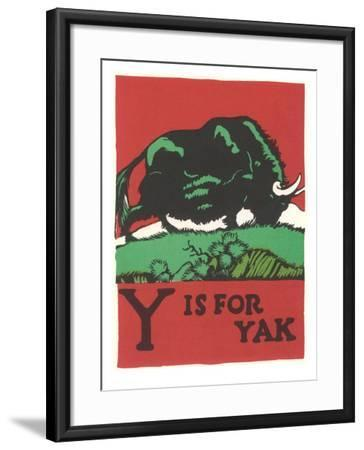 Y is for Yak--Framed Art Print
