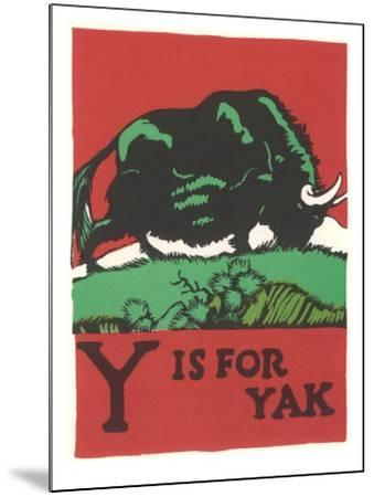 Y is for Yak--Mounted Art Print
