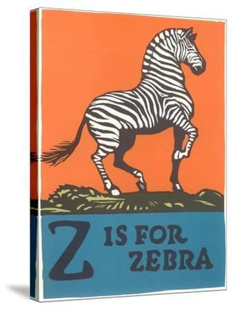 Z is for Zebra--Stretched Canvas Print