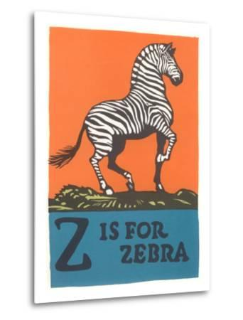 Z is for Zebra--Metal Print