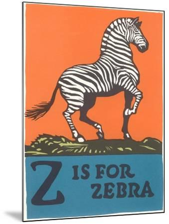 Z is for Zebra--Mounted Art Print