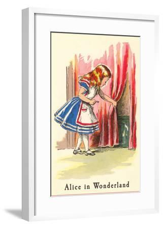 Alice in Wonderland, Alice Finds Door--Framed Art Print