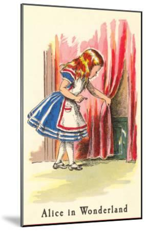 Alice in Wonderland, Alice Finds Door--Mounted Art Print