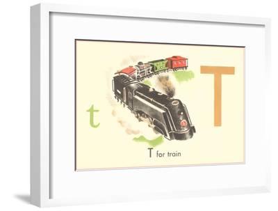 T is for Train--Framed Art Print