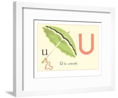 U Is For Umbrella Framed Art Print