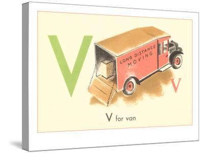 V is for Van--Stretched Canvas Print