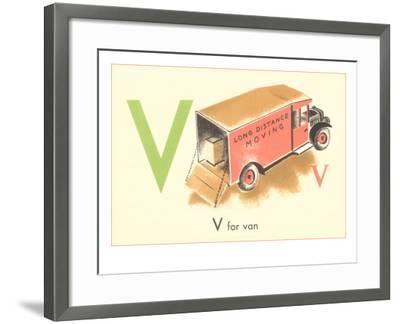 V is for Van--Framed Art Print