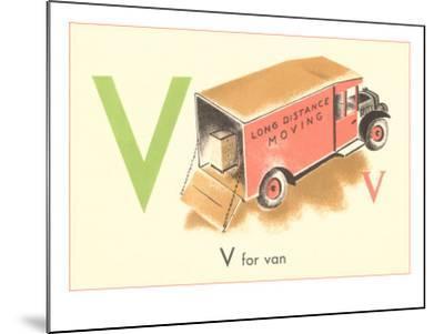 V is for Van--Mounted Art Print