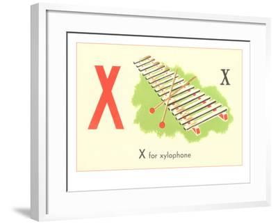X is for Xylophone--Framed Art Print