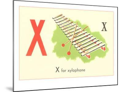 X is for Xylophone--Mounted Art Print