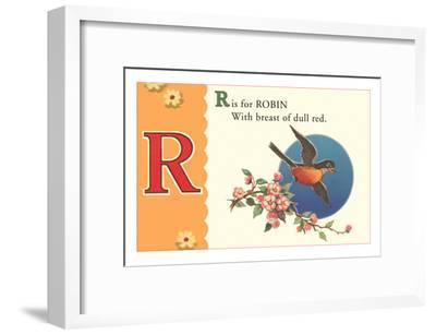 R is for Robin--Framed Art Print
