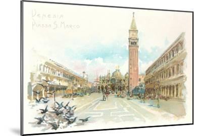 St. Mark's Square, Venice, Italy--Mounted Art Print