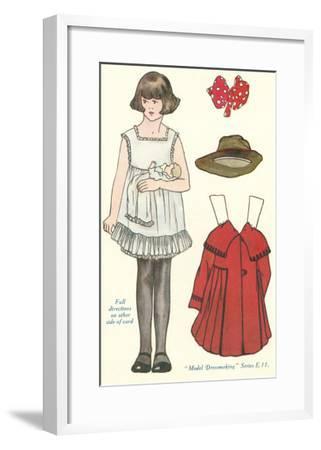 Cut-out Paper Doll, Little Girl--Framed Art Print