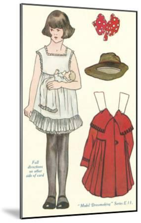 Cut-out Paper Doll, Little Girl--Mounted Art Print